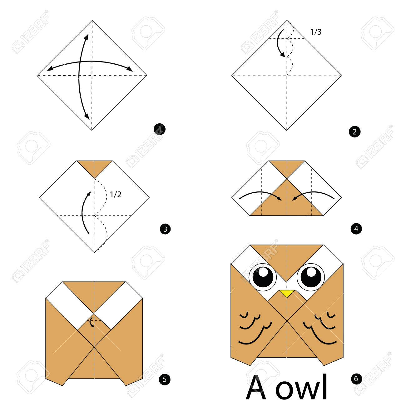 Step By Instructions How To Make Origami Owl Stock Vector