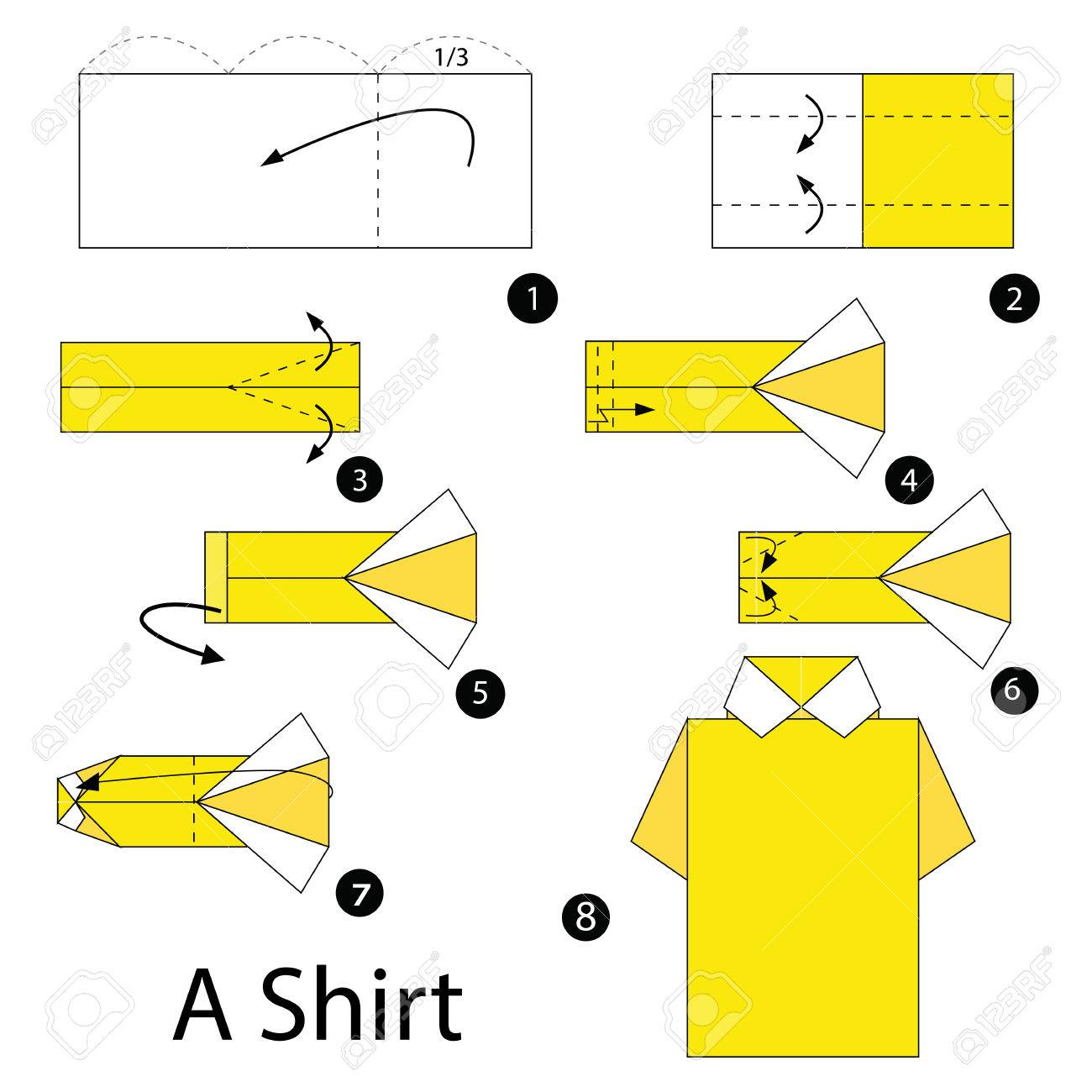 How to make Origami Shirt with Card step by step DIY tutorial ... | 1300x1300