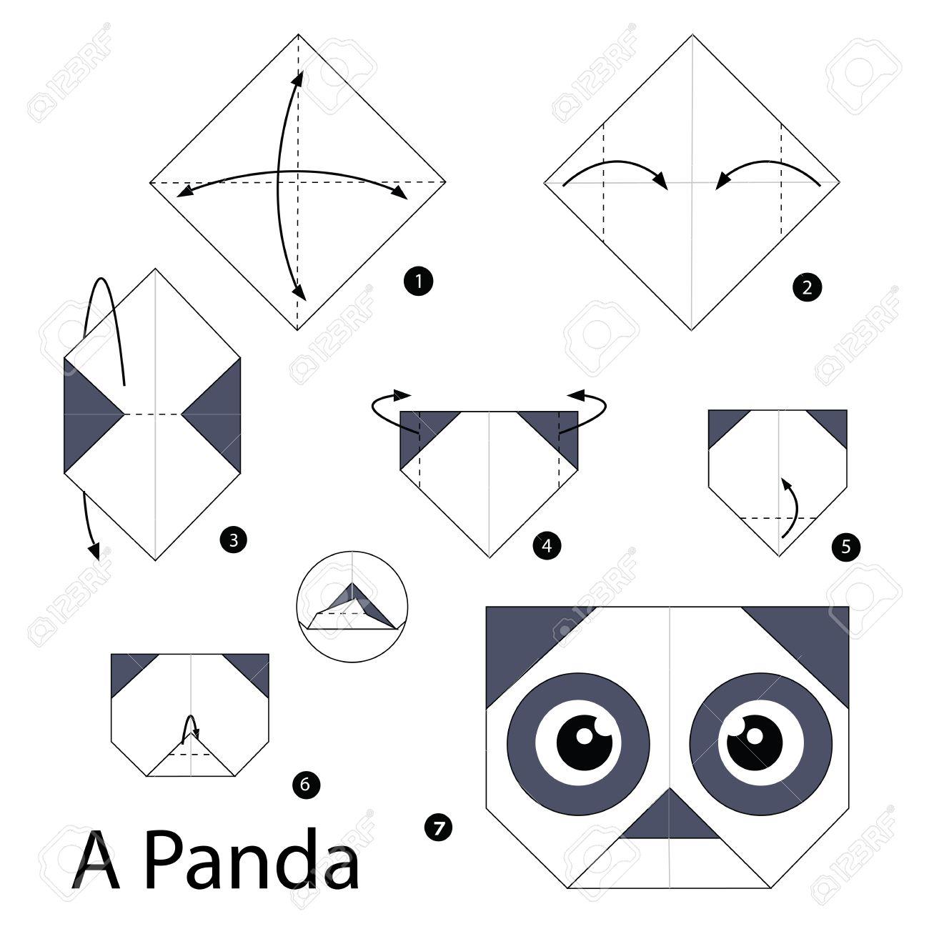 Etape Par étape Comment Faire Lorigami A Panda
