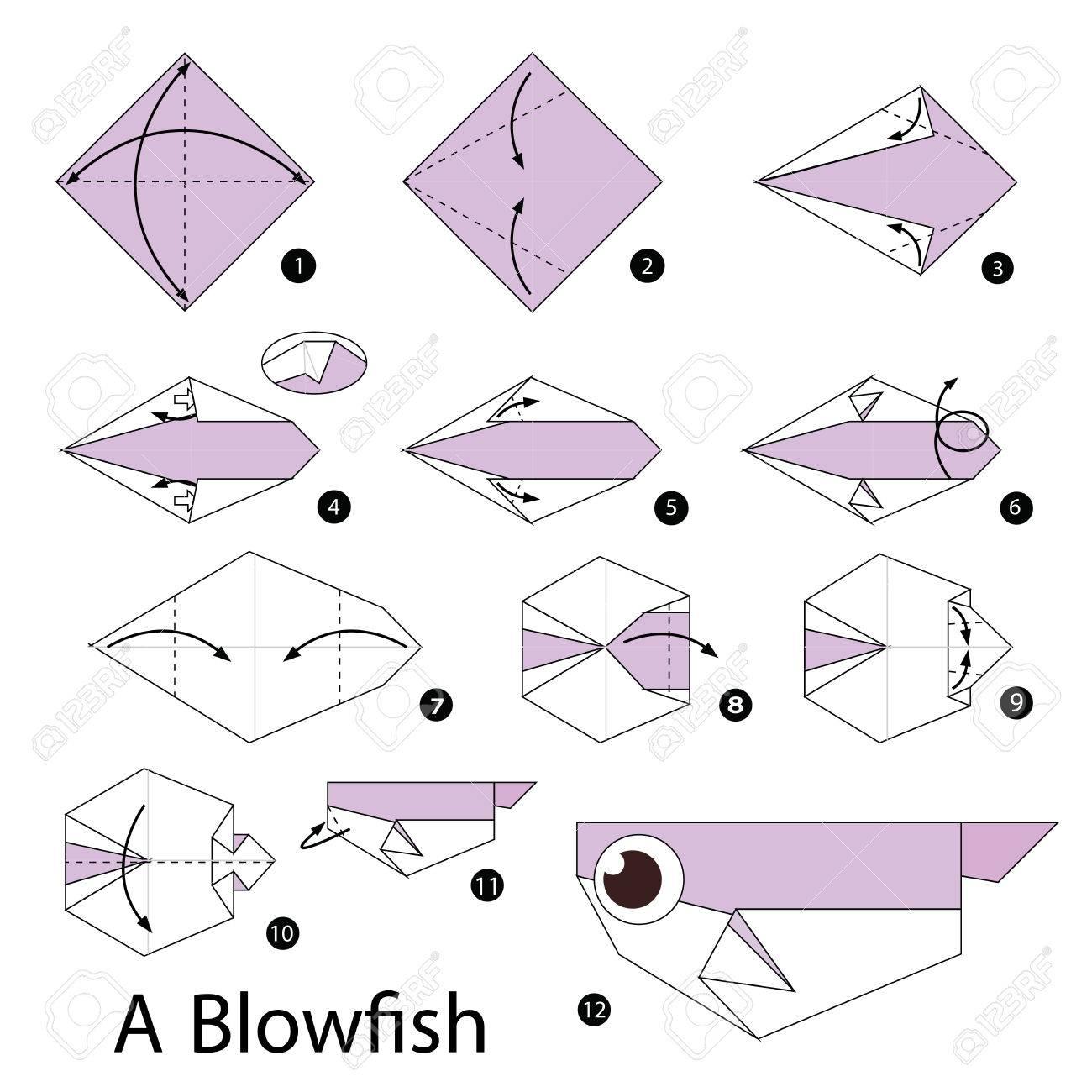 Origami Fish: Easy Folding Instructions | 1300x1300