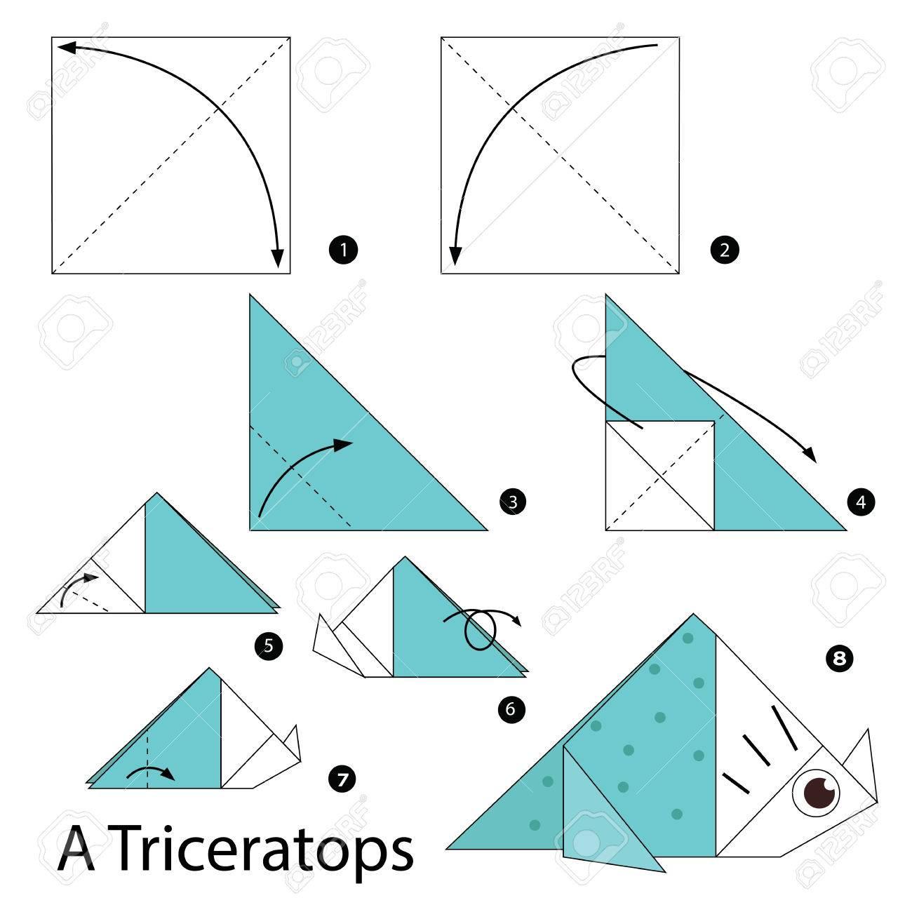 Instrucciones Paso A Paso Cmo Hacer Origami Un Dinosaurio