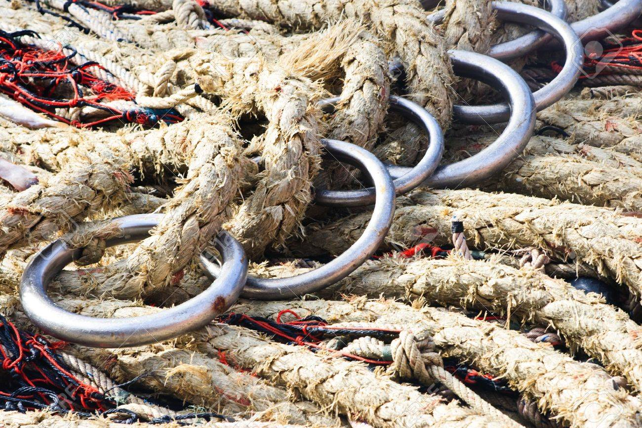 A fisherman s ropes and nets Stock Photo - 14265164