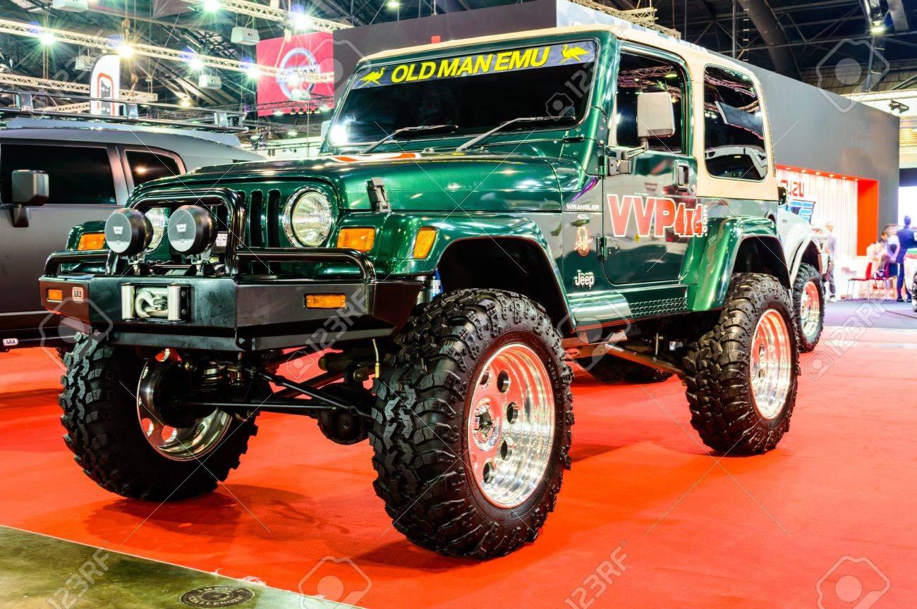 Bangkok June 20 Jeep Wrangler Jk On Display At Bangkok