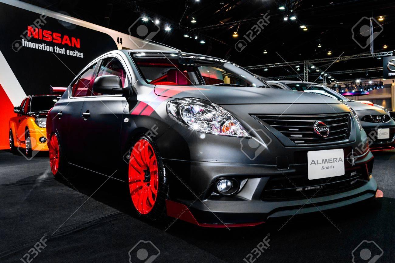 Bangkok June 20 Nissan Almera On Display At Bangkok International Stock Photo Picture And Royalty Free Image Image 20449395
