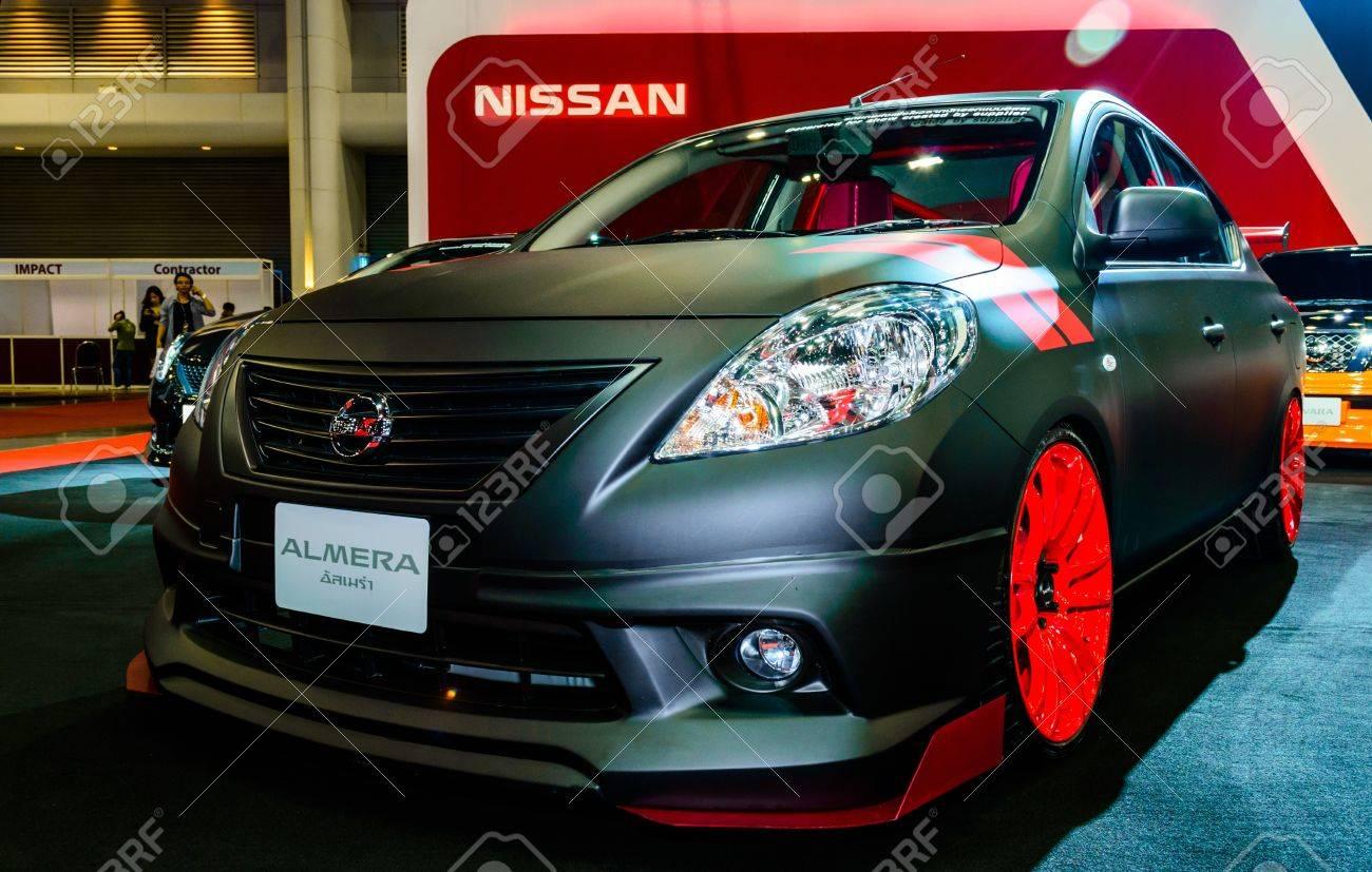 Bangkok June 20 Nissan Almera On Display At Bangkok International Stock Photo Picture And Royalty Free Image Image 20449400