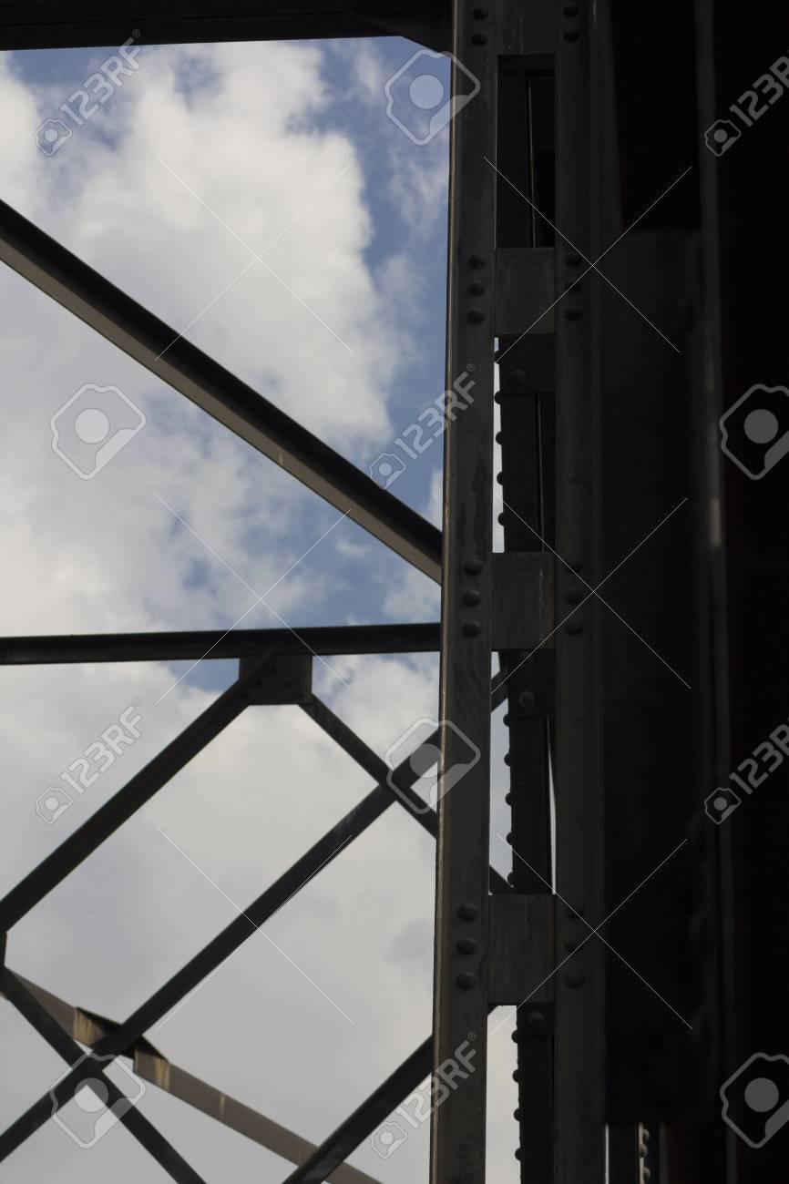 Iron Railway Bridge in Thailand Stock Photo - 17404562