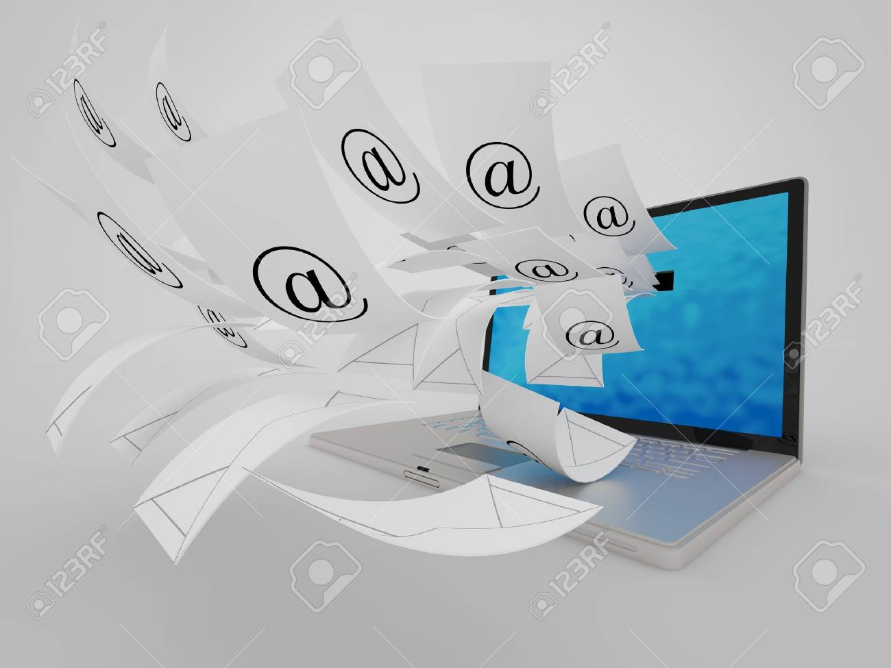 Conceptual image about A lot of  e- mail Stock Photo - 18662744