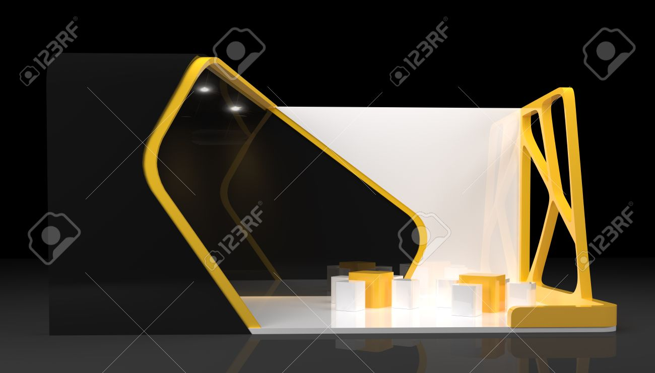 Booth Exhibition Design 3d Render Stock Photo Picture And Royalty