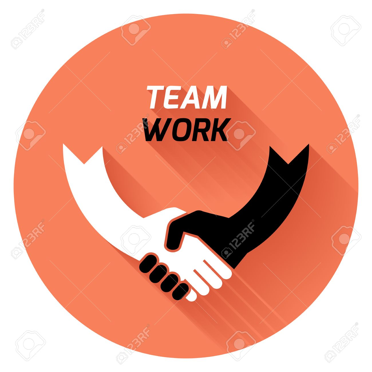 Business people handshake greeting deal at work photo free download - Vector Creative Concept Black White Icon Handshake Background For Business And Finance Idea Team Best Deal Teame Work Flat Vector Design