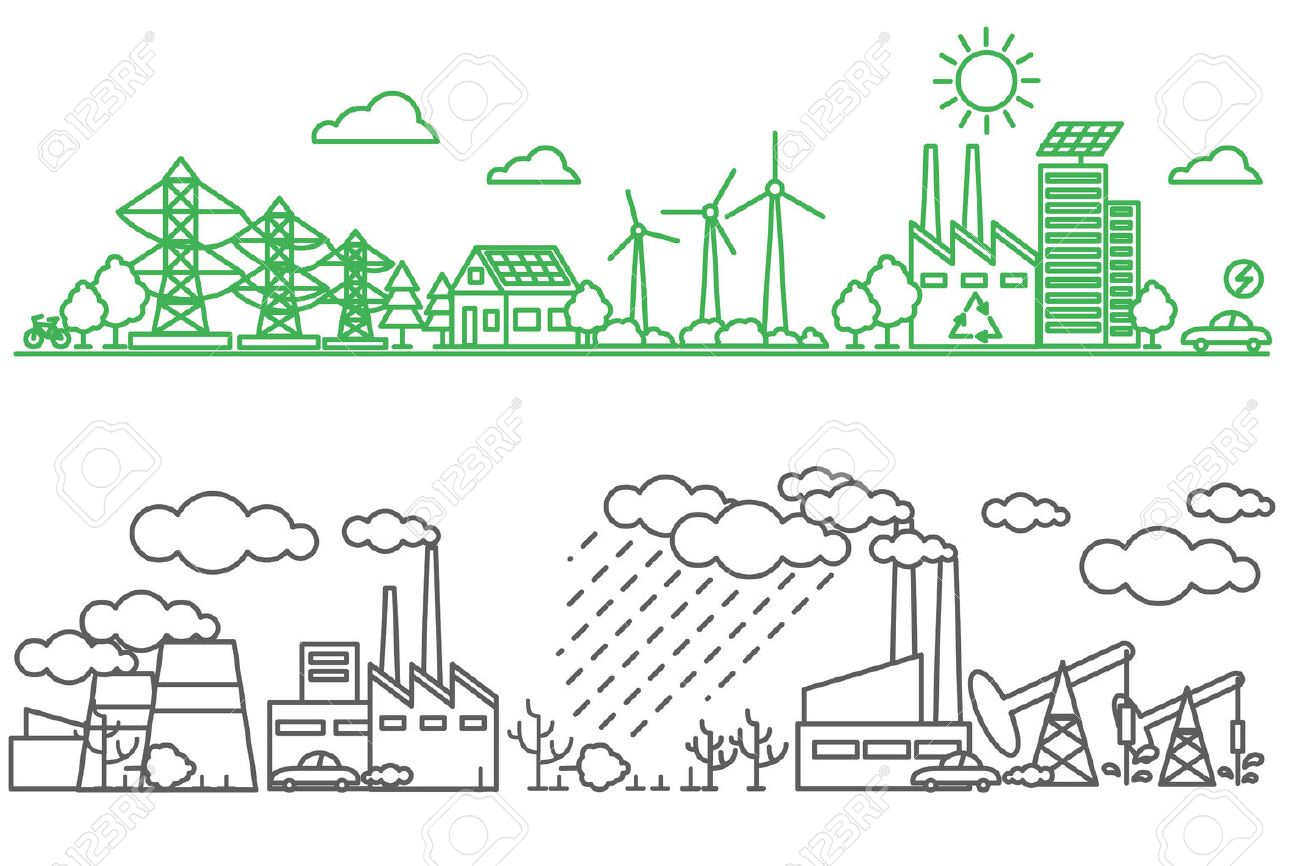 environment ecology infographic elements environmental risks and pollution ecosystem can be used
