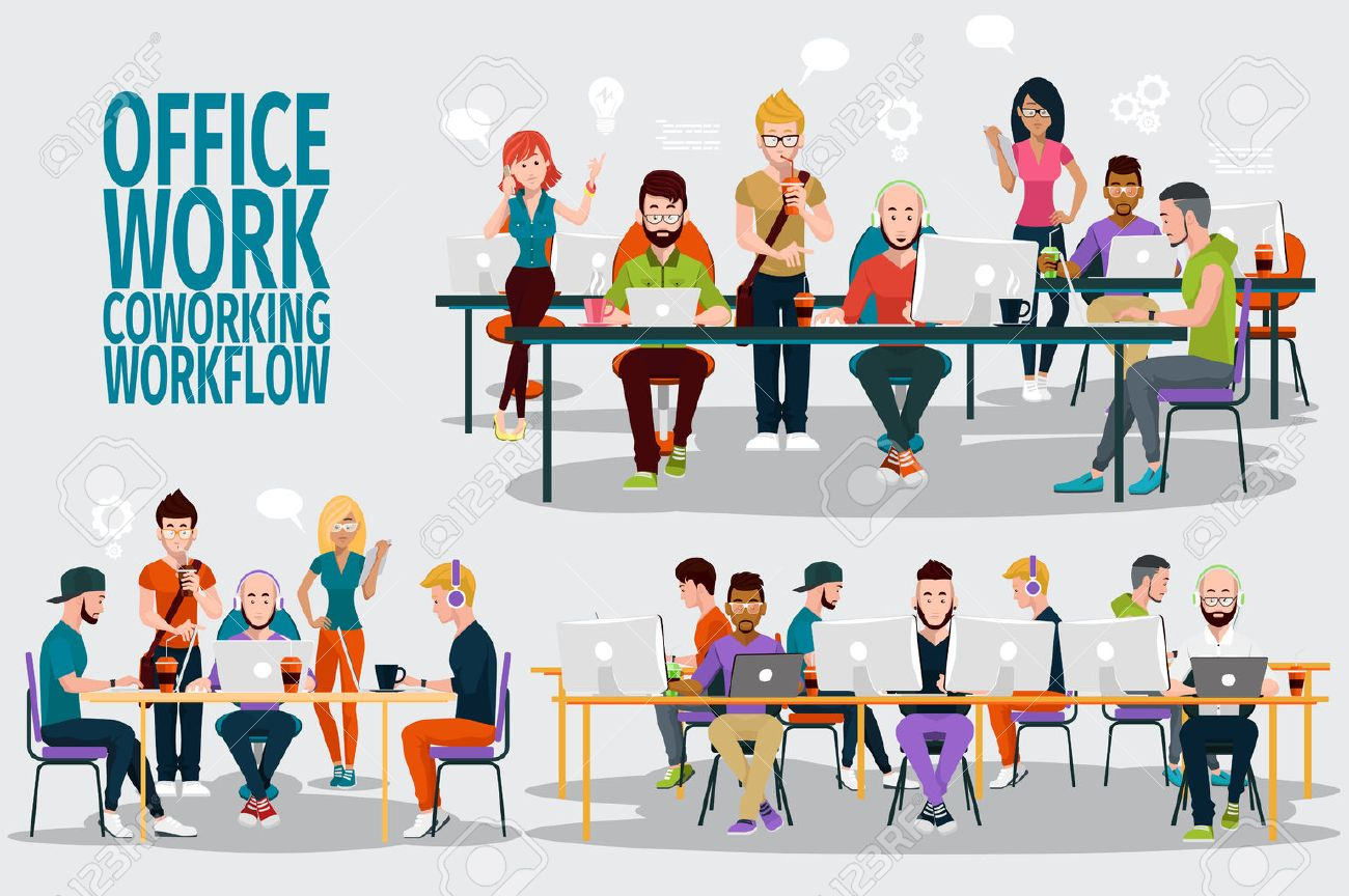 business people working office corporate team concept shared business people working office corporate team concept shared working environment people talking and working