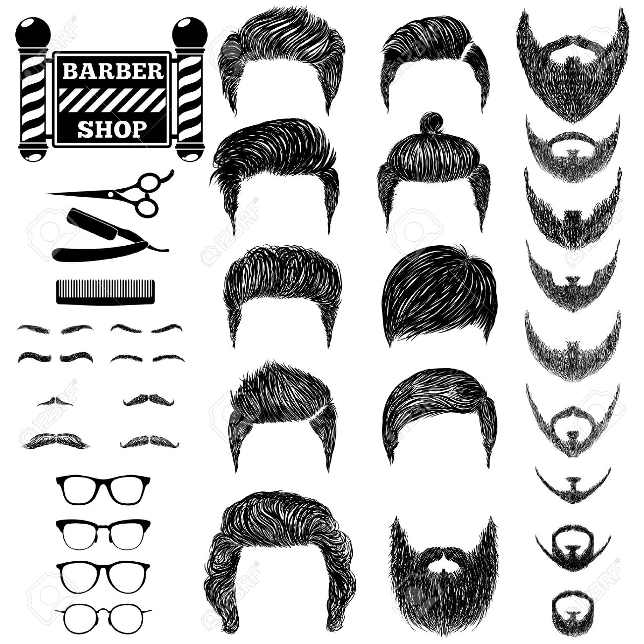 57,045 Hairstyle Stock Illustrations, Cliparts And Royalty Free ...