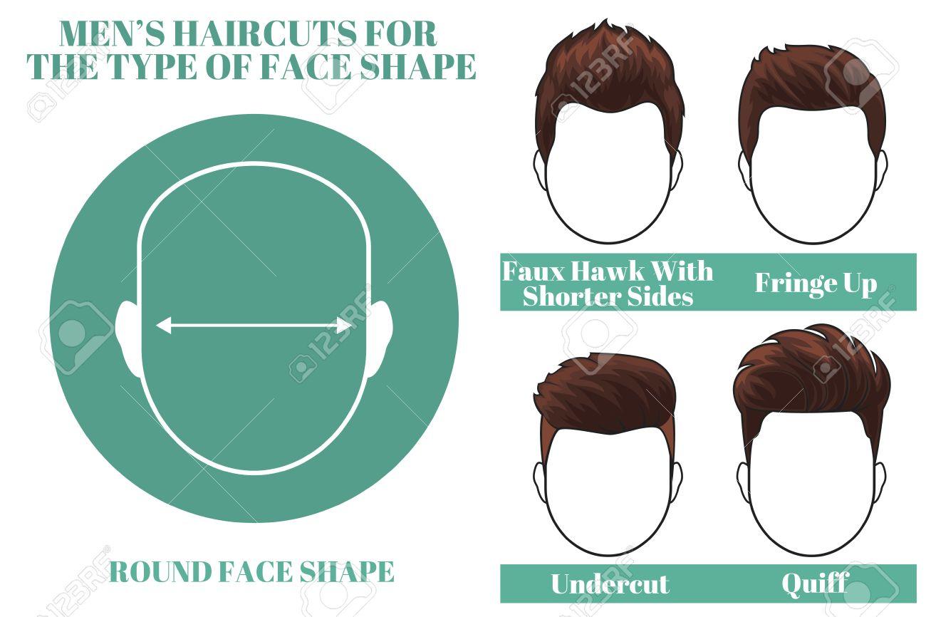 Differents Types De Coupes De Cheveux Pour Visage Rond Homme Forme Os Illustration Clip Art Libres De Droits Vecteurs Et Illustration Image 52800717