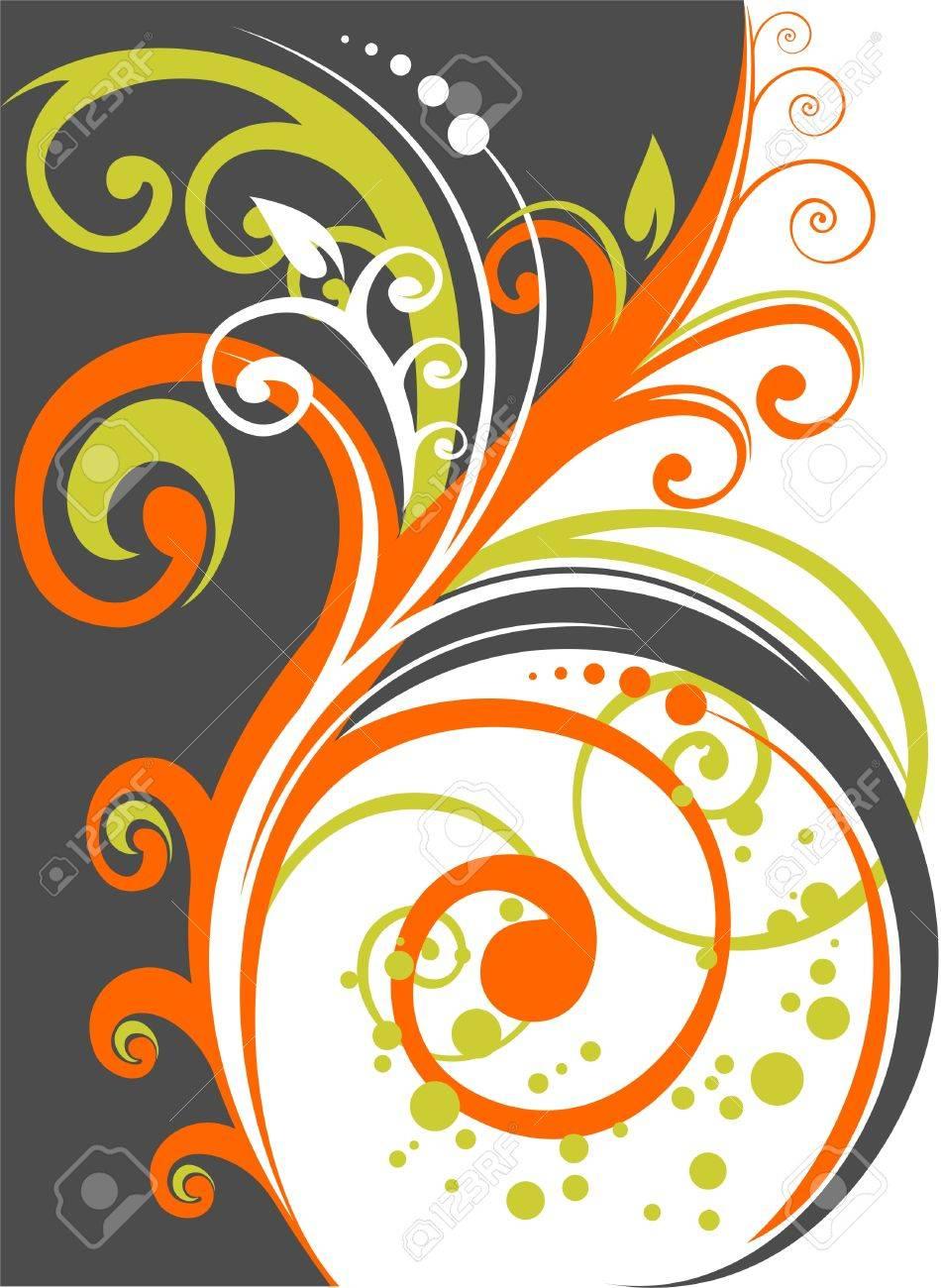 The decorative stylized vegetative pattern on a white background. Stock Vector - 1934528