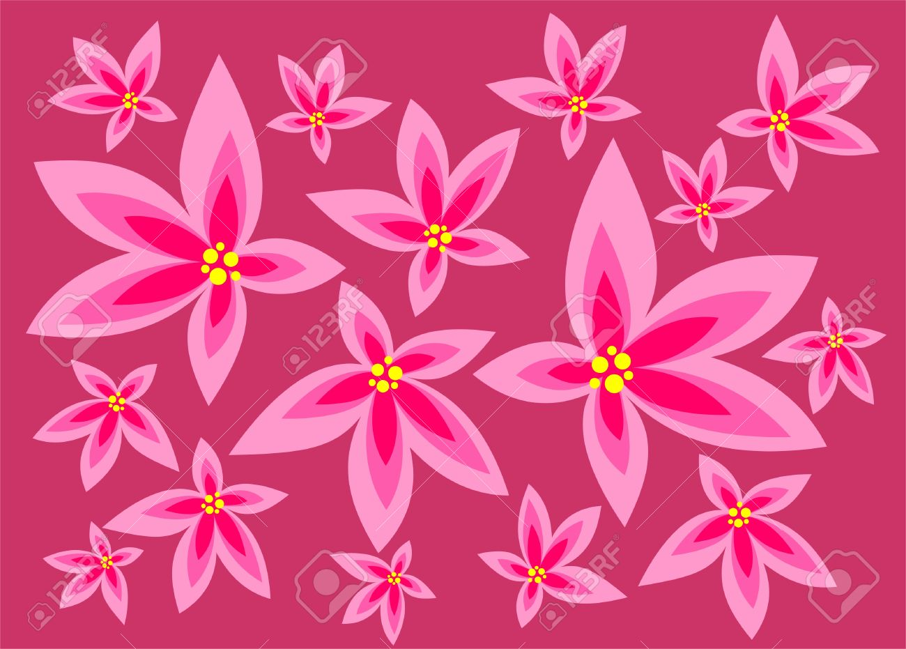 Light pink flowers on a dark pink background royalty free cliparts light pink flowers on a dark pink background stock vector 2732479 mightylinksfo