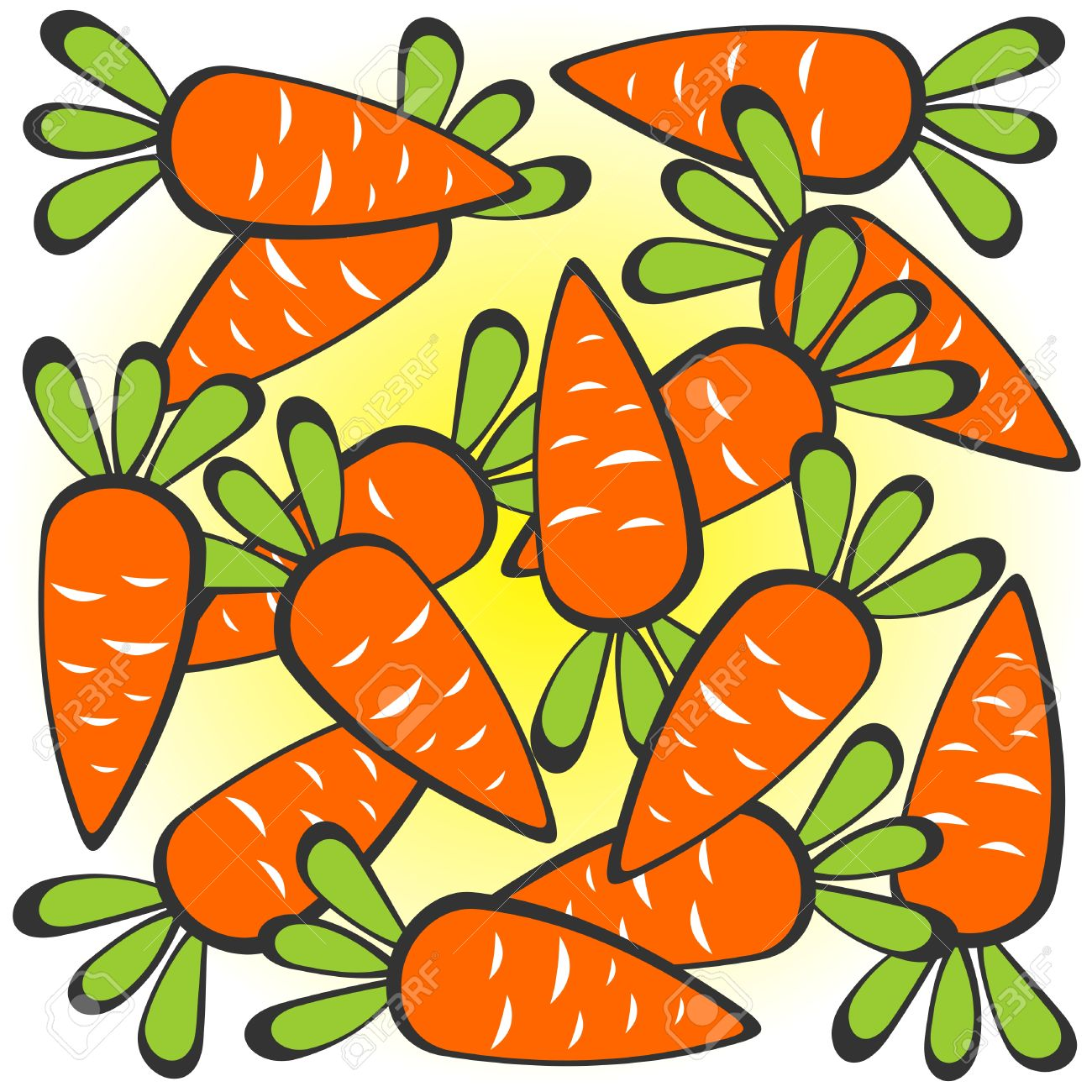 cartoon carrots pattern on a white background royalty free cliparts