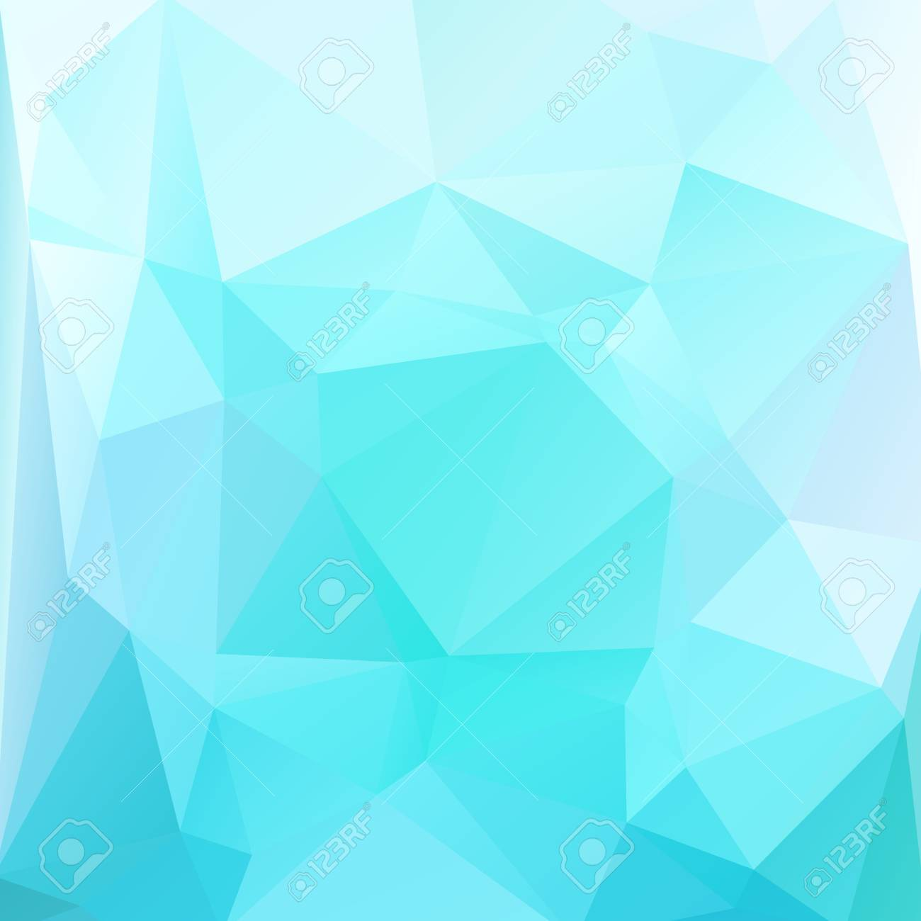 Polygonal Abstract Background With Light Blue Triangles
