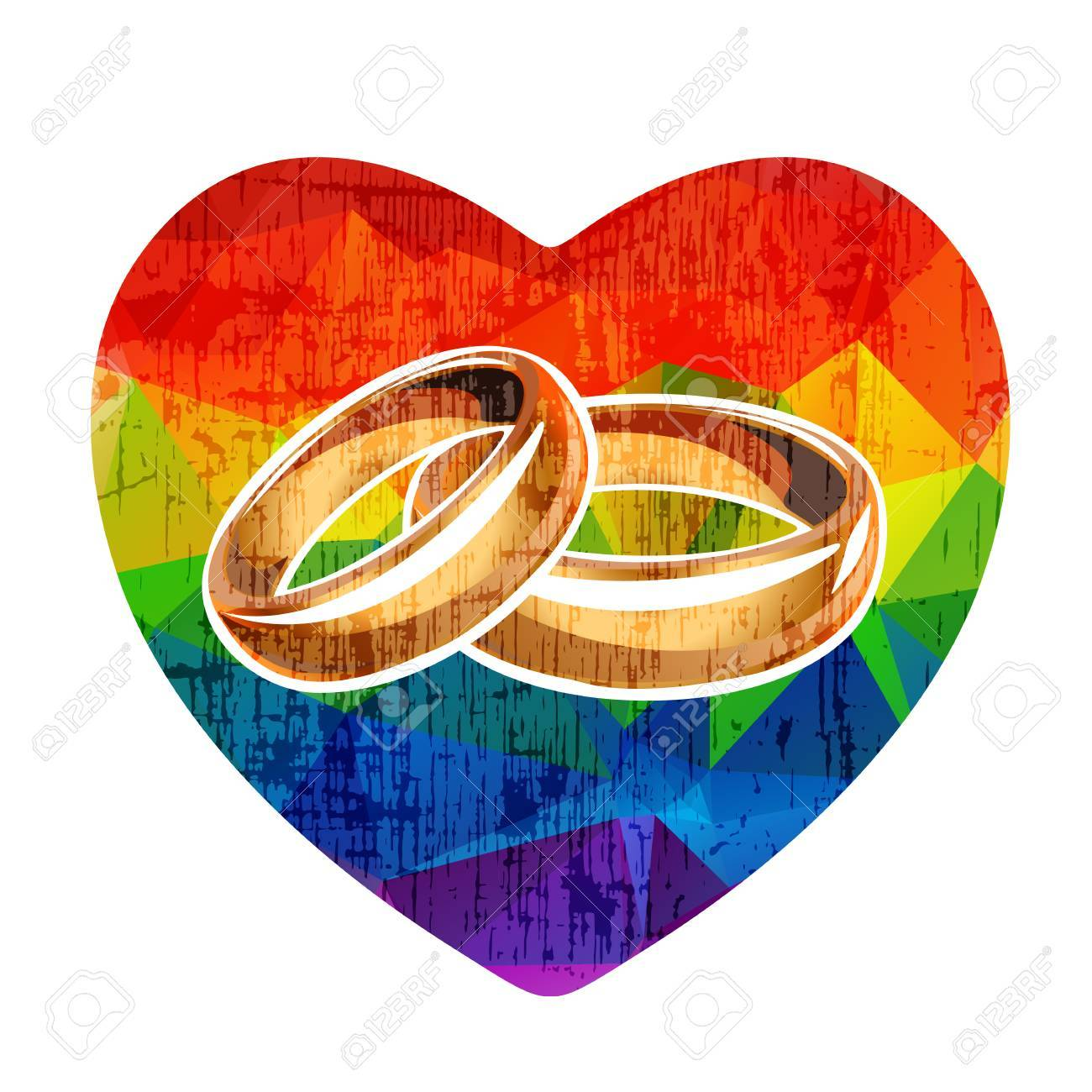 two background lgbt symbol stock royalty vector rainbow rings hd and image on white wedding heart isolated gay