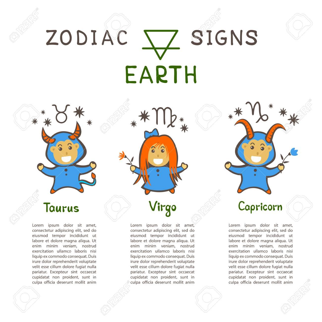 Zodiac Earth Sign Taurus Virgo Capricorn Tarot Drawstring Bag