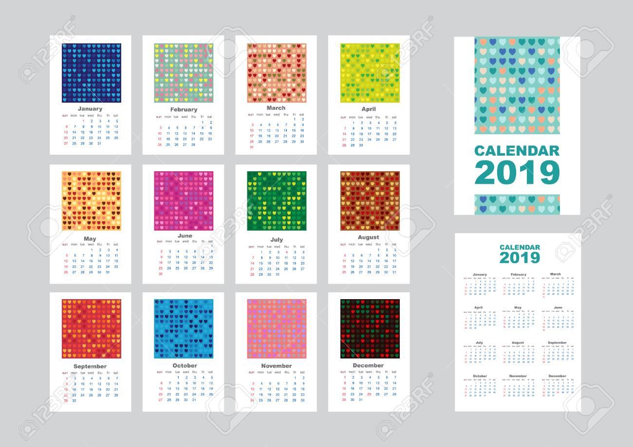 Abstract Art 2019 Wall Calendar