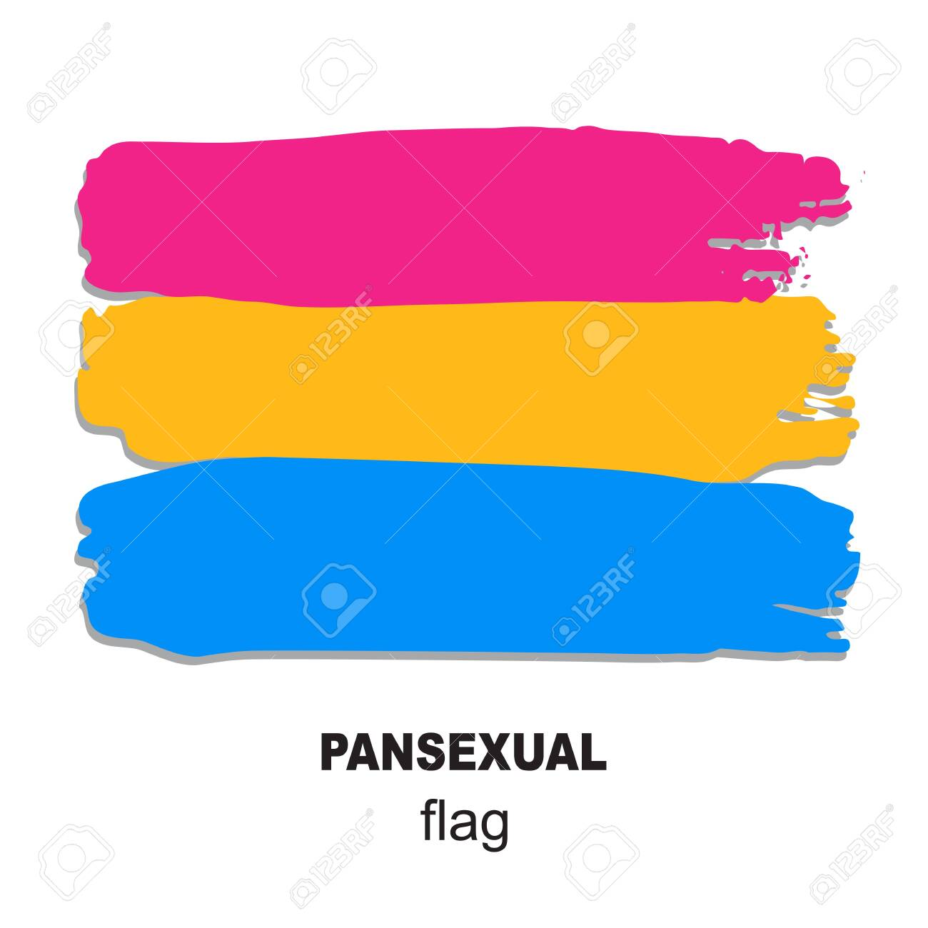 Pansexual Pride Flag Isolated On White Background Gay Pride Royalty Free Cliparts Vectors And Stock Illustration Image 125962702