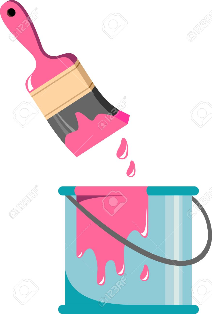 brush and paint can royalty free cliparts vectors and stock rh 123rf com print vector c++ print vector in matlab