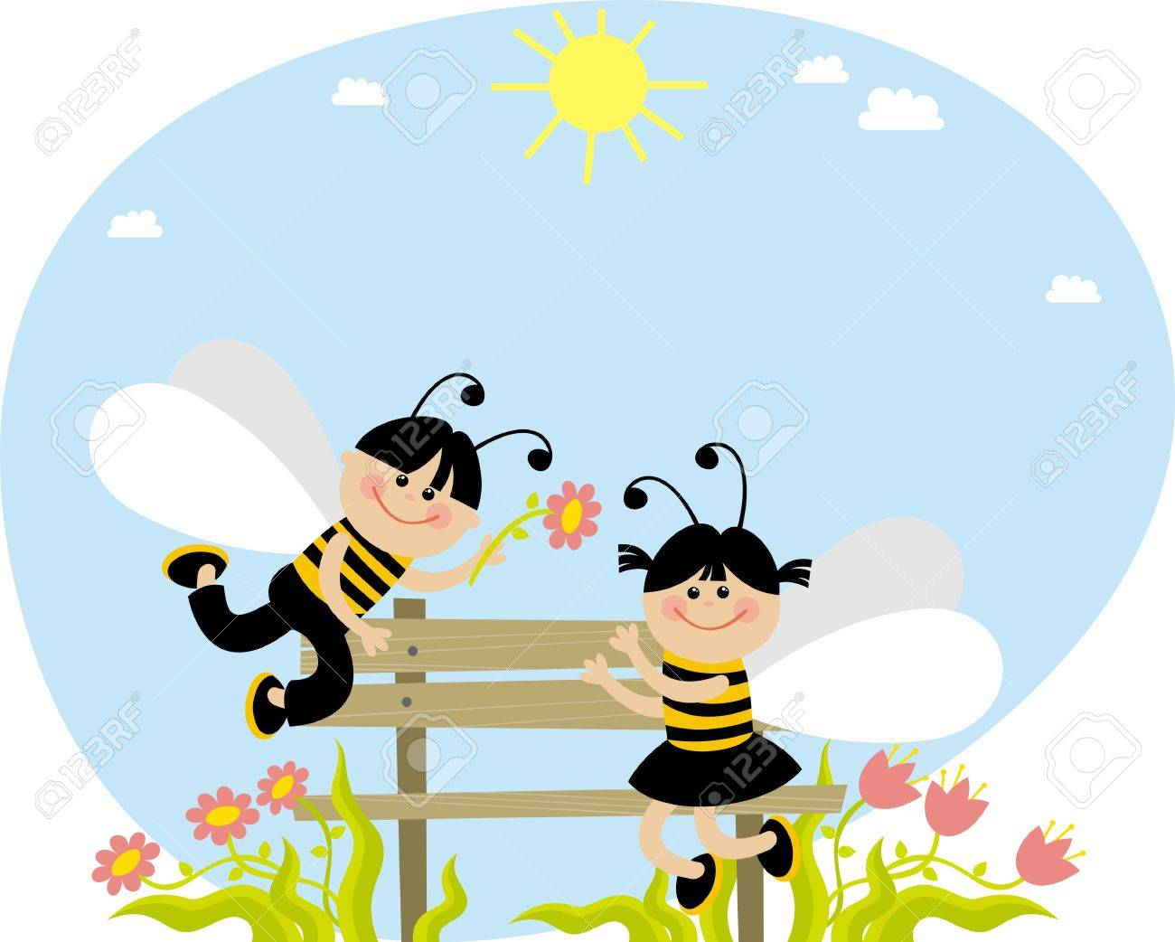 bees Stock Vector - 9096186