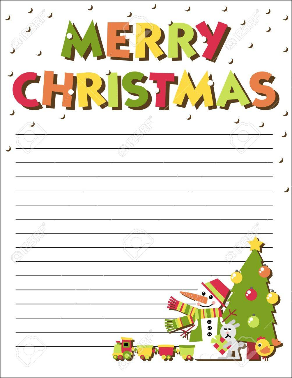 Form Letters To Santa Claus With An Illustration Royalty Free