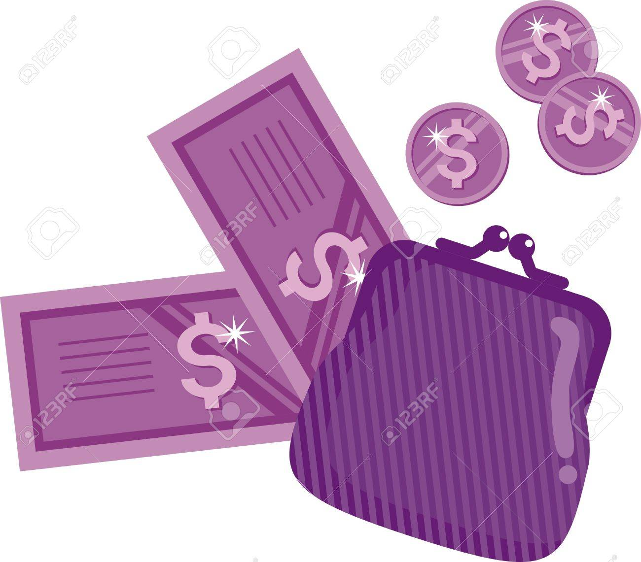 wallet - a symbol of money, wealth, prosperity Stock Vector - 11494880
