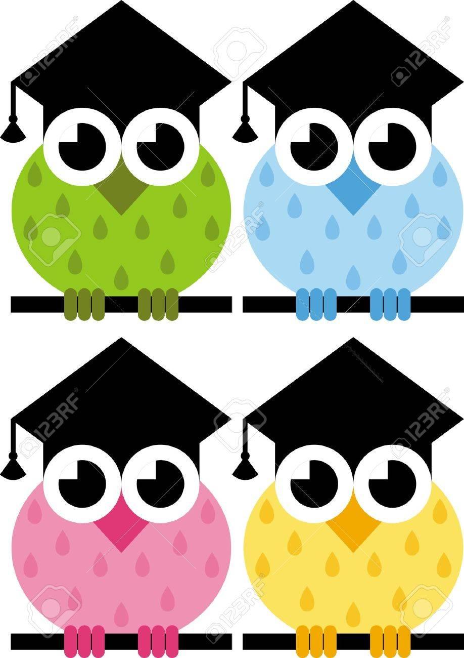 Das Zeichen Der Eule Hut Absolvent Ein Symbol Fur Wissen Und