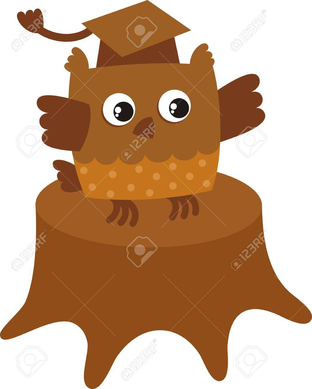 Bird Owl The Symbol Of Knowledge And Wisdom Royalty Free Cliparts