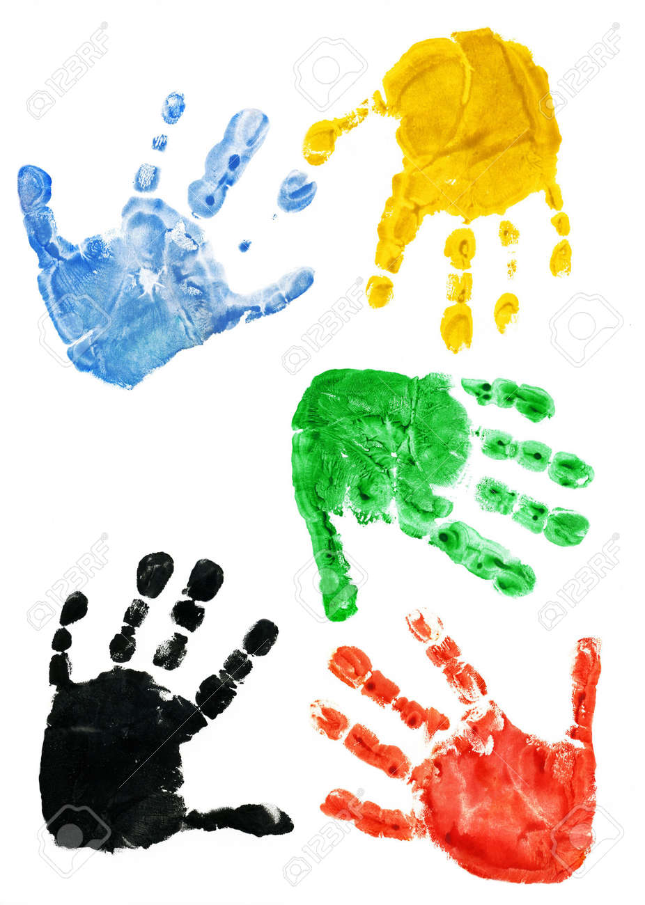 Prints of hands of the child, 2,5 years Stock Photo - 292329