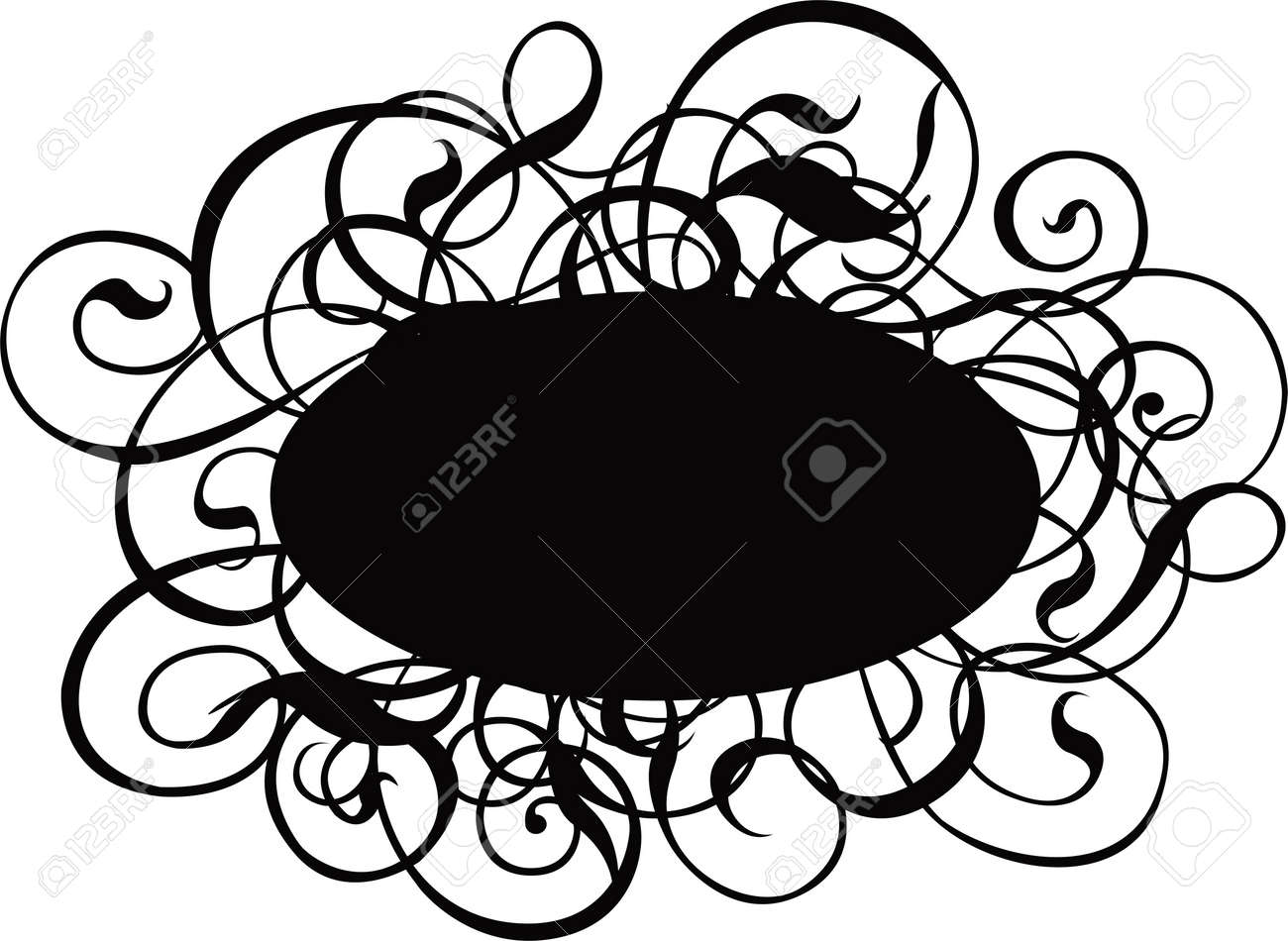 Scroll, cartouche, decor, vector illustration Stock Illustration - 310986