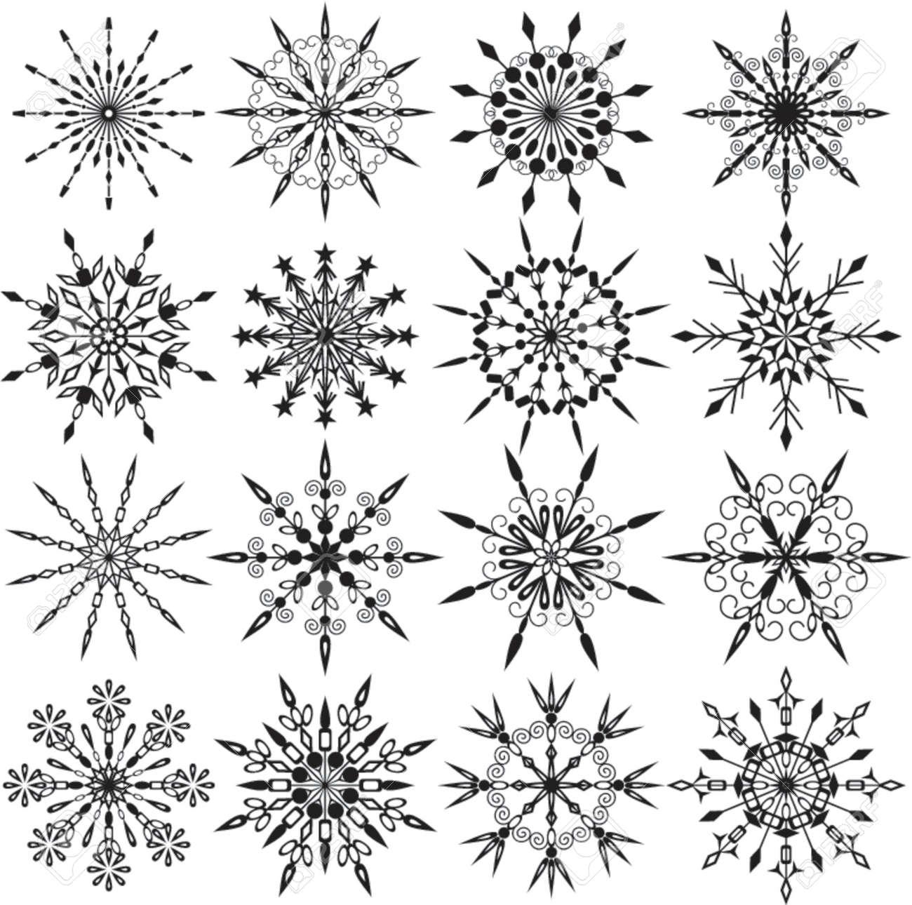 Snowflakes, vector illustration Stock Vector - 646201