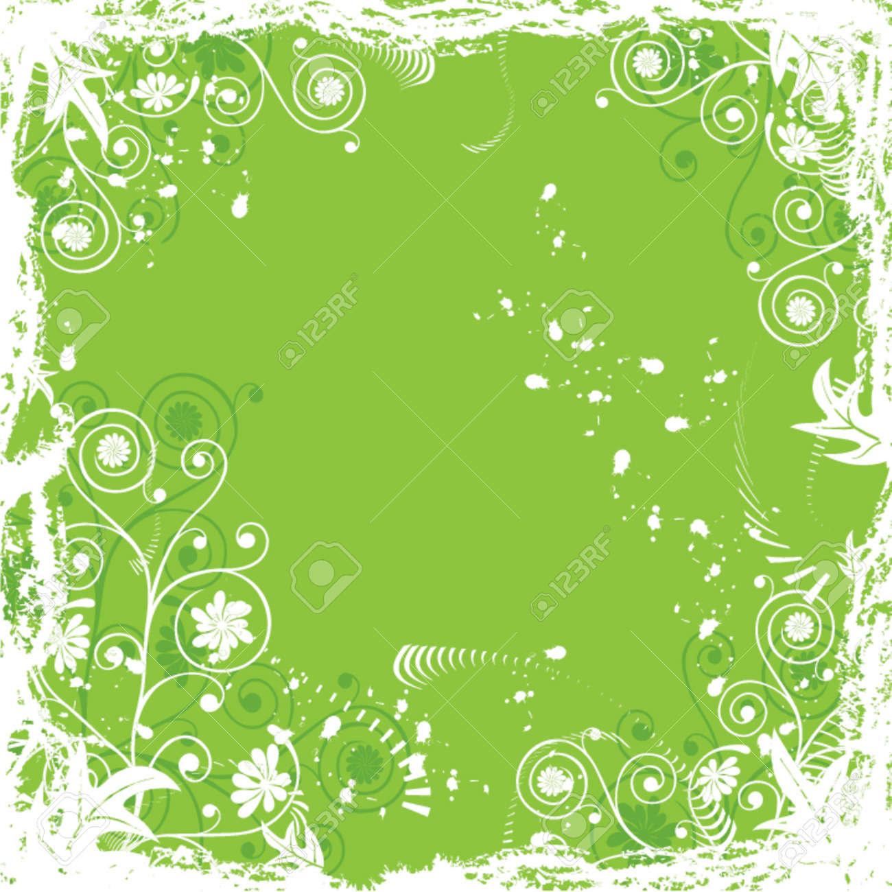 Grunge floral  background, vector illustration Stock Vector - 646169