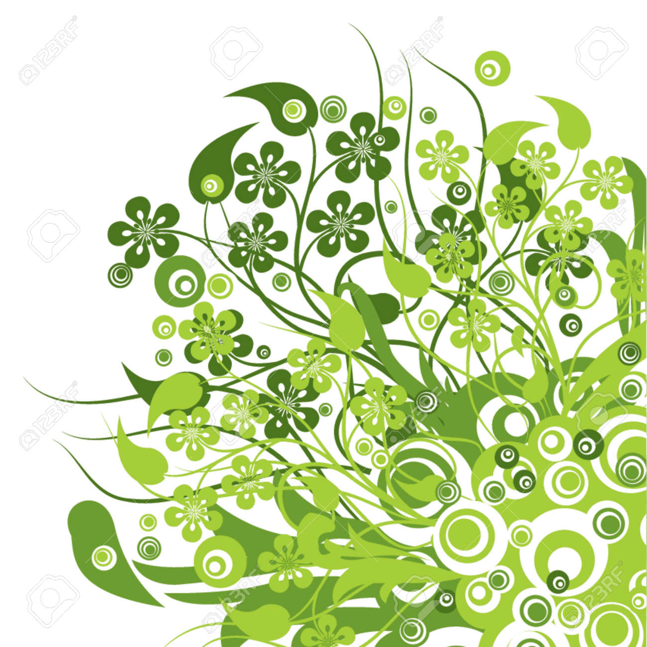 Floral background, vector illustration Stock Vector - 725600