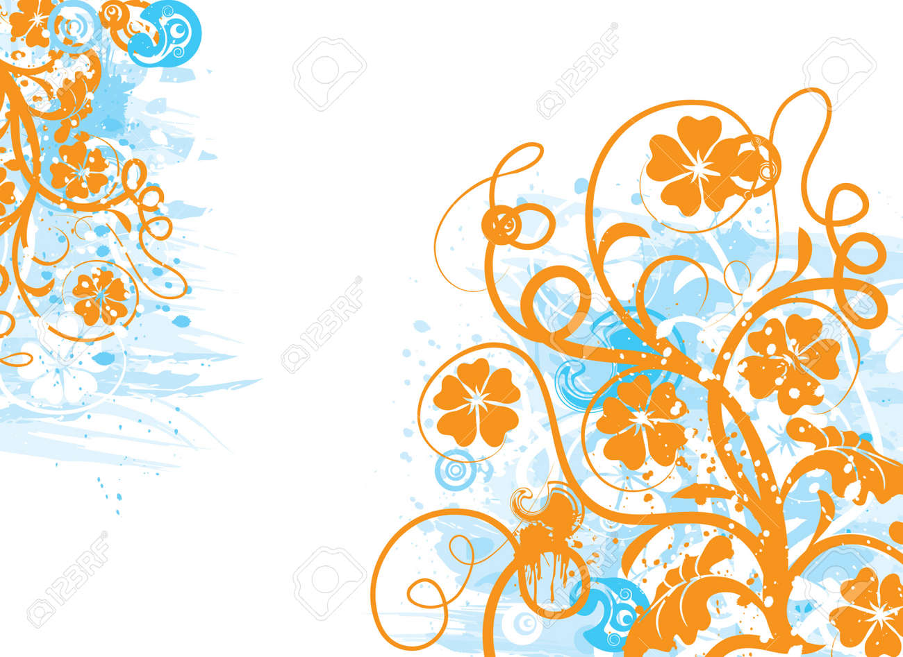 Grunge floral background Stock Photo - 895412