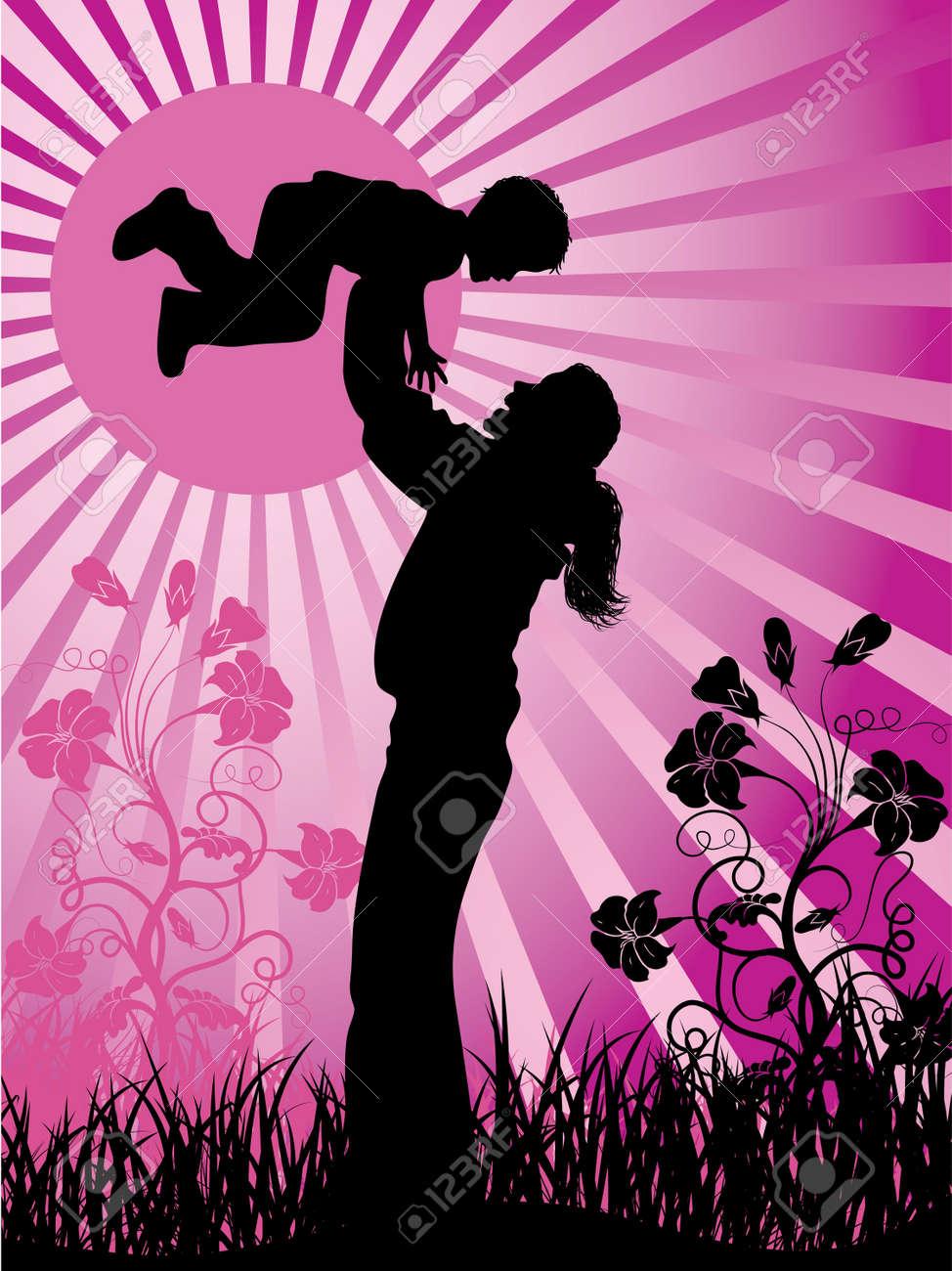Happy family Stock Photo - 895418