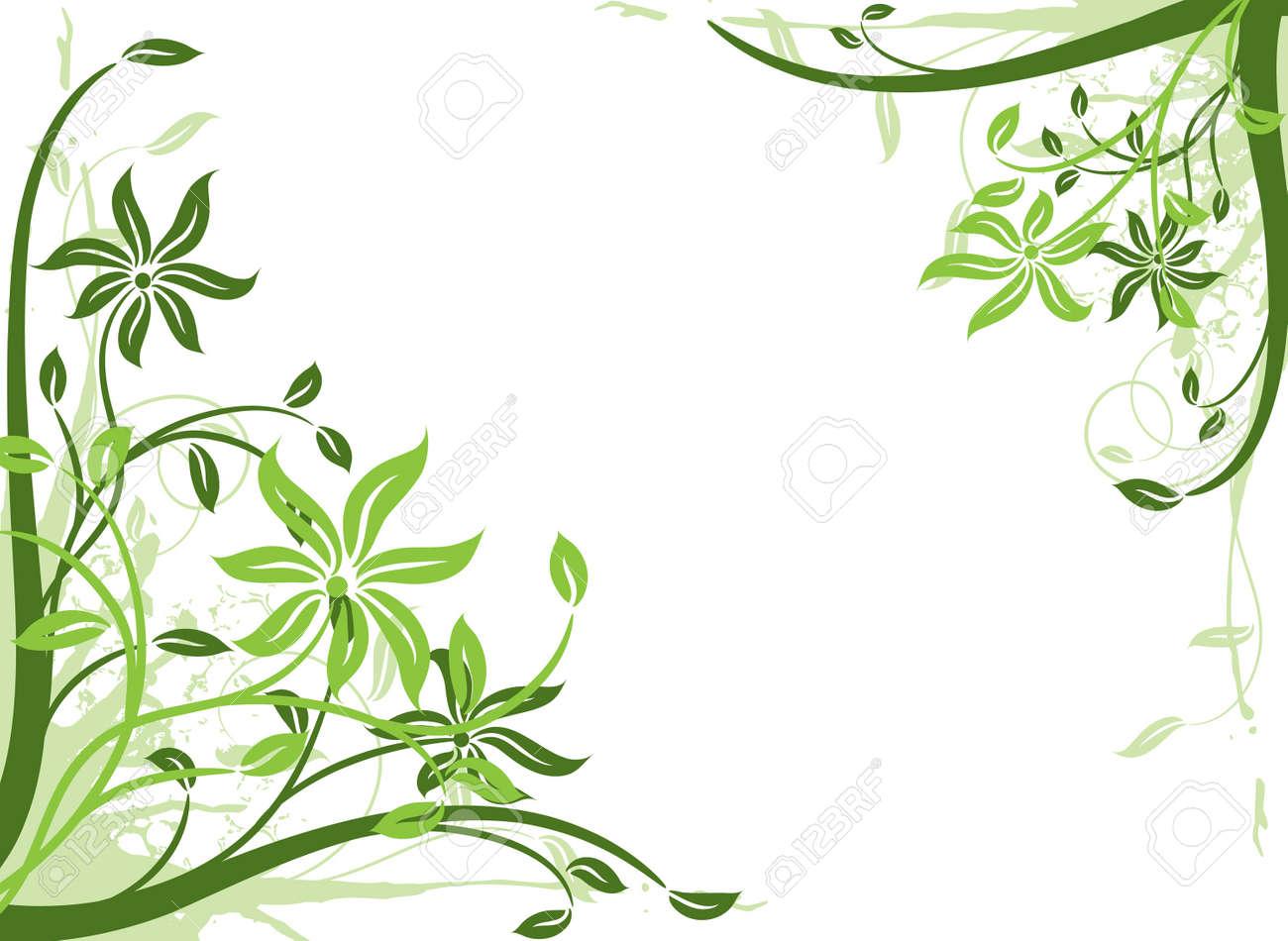 Floral background, frame, vector illustration Stock Vector - 2901948