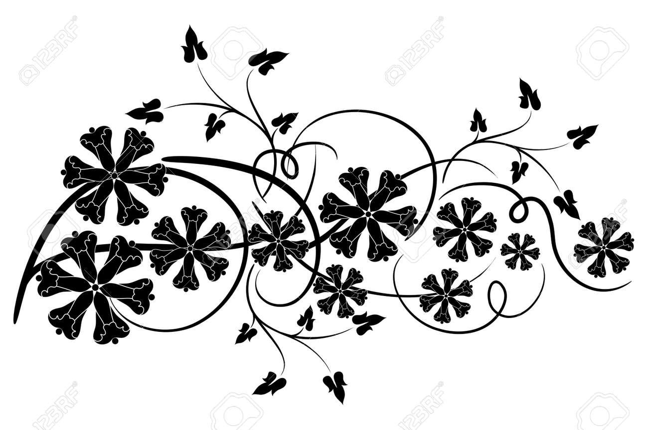 Decorative floral element for design, vector illustration Stock Vector - 2901972