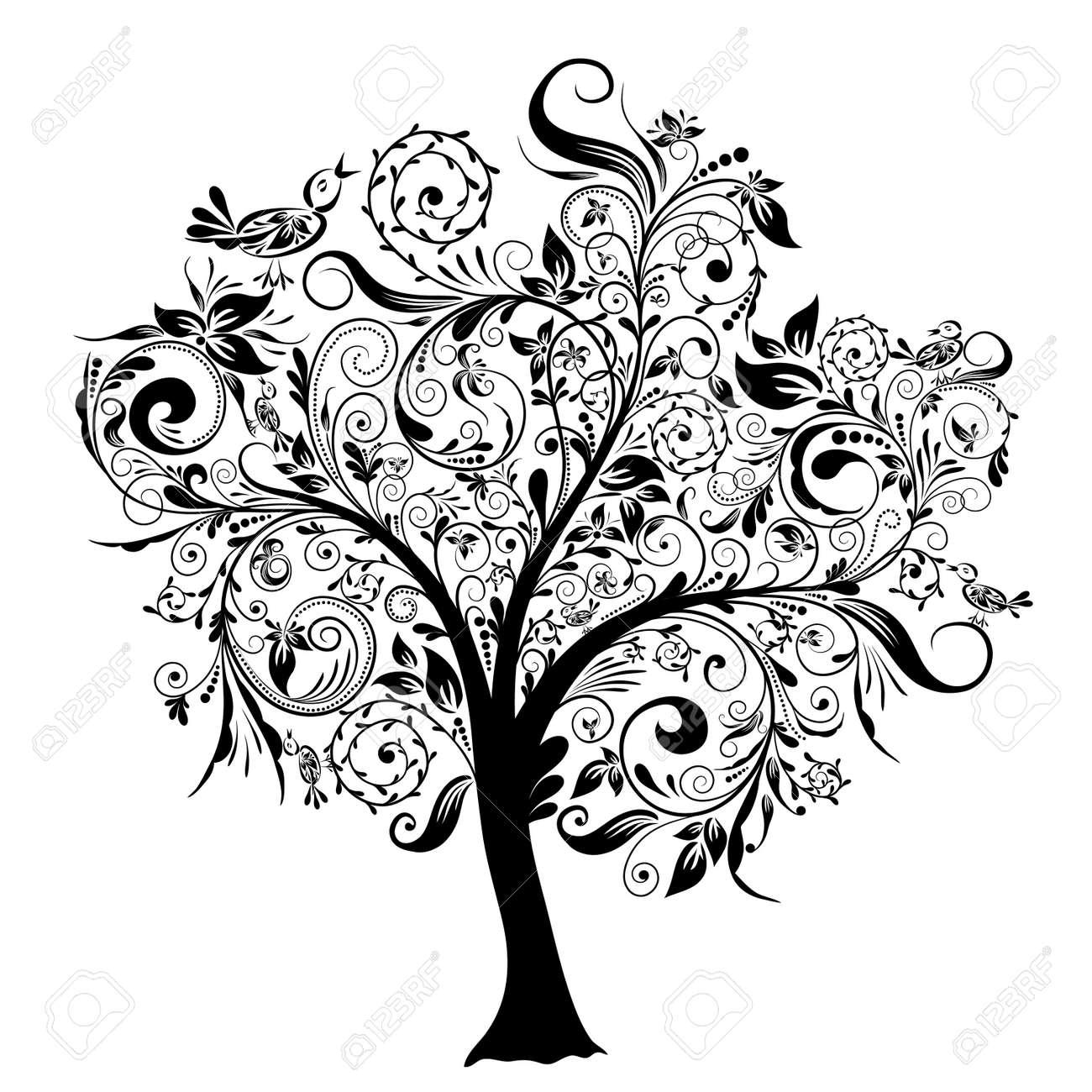 decorative royalty free tree hand of image bonsai vector decor illustration drawn stock symbol nature