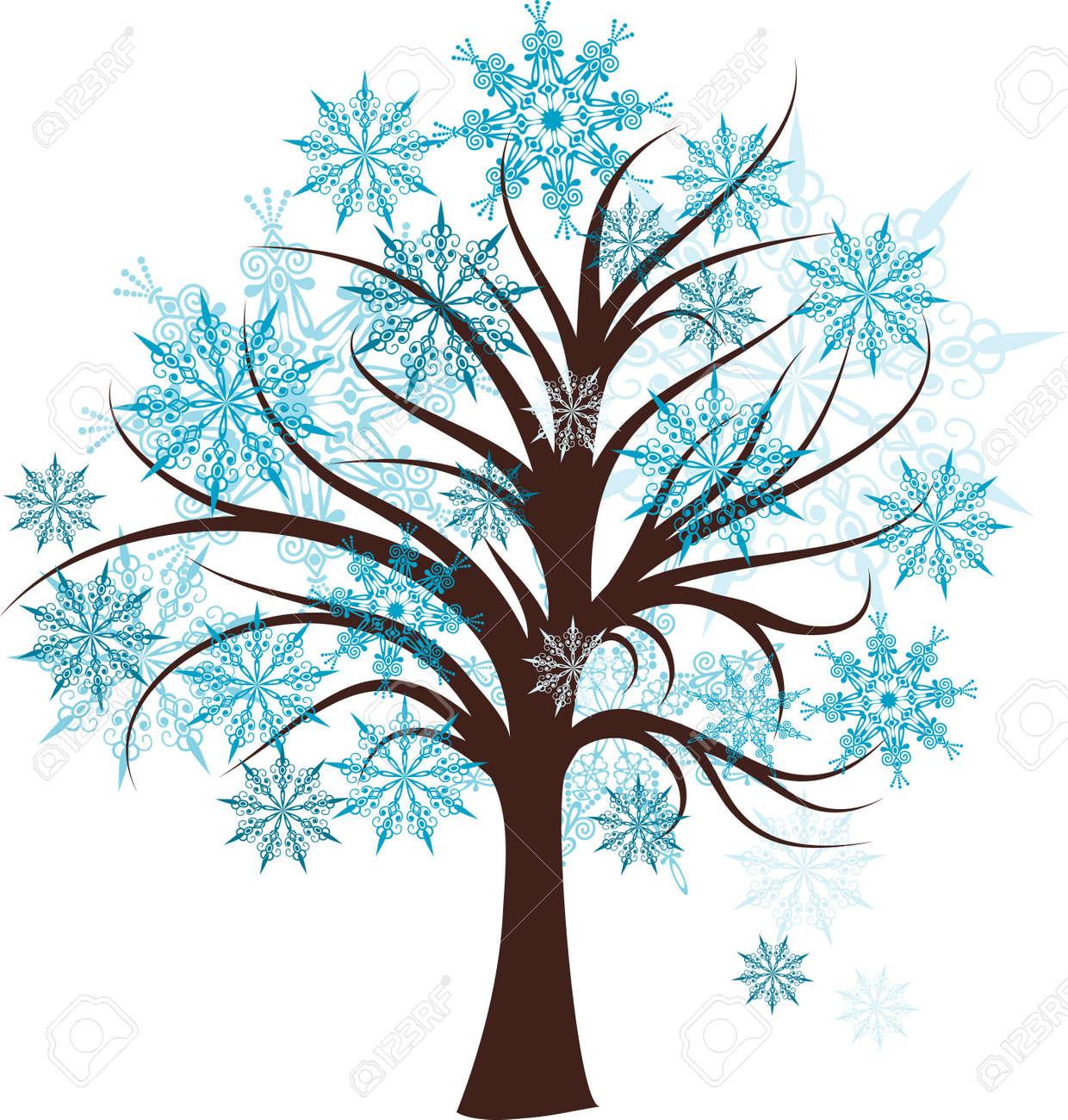 Decorative winter tree, vector illustration Stock Vector - 8969295