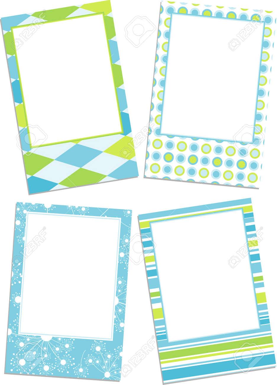 template photo frames vector illustration stock vector 10733341