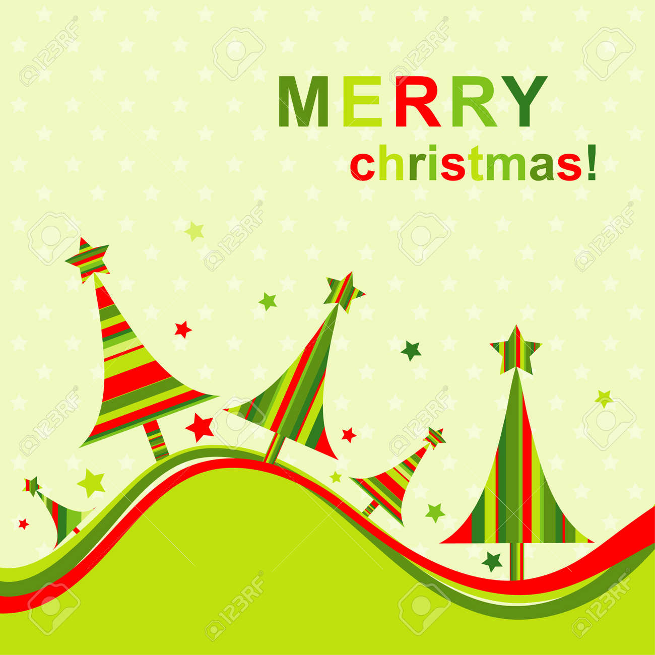 Template Christmas Greeting Card Royalty Free Cliparts Vectors And