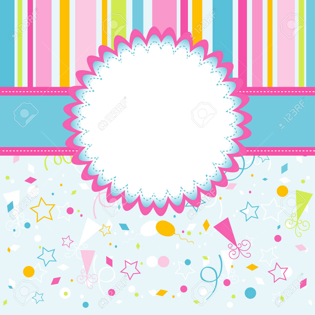 Template Greeting Card Vector Illustration Royalty Free Cliparts – Greeting Card Template