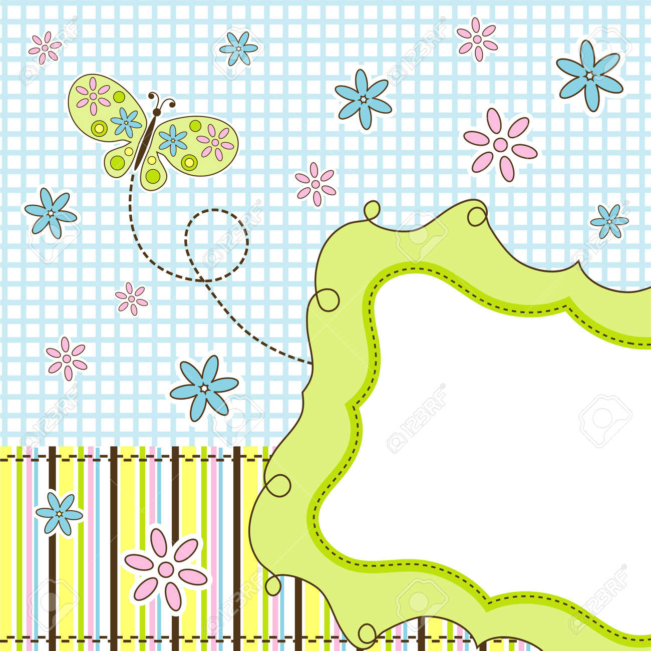 Template greeting card, vector illustration Stock Vector - 11930418