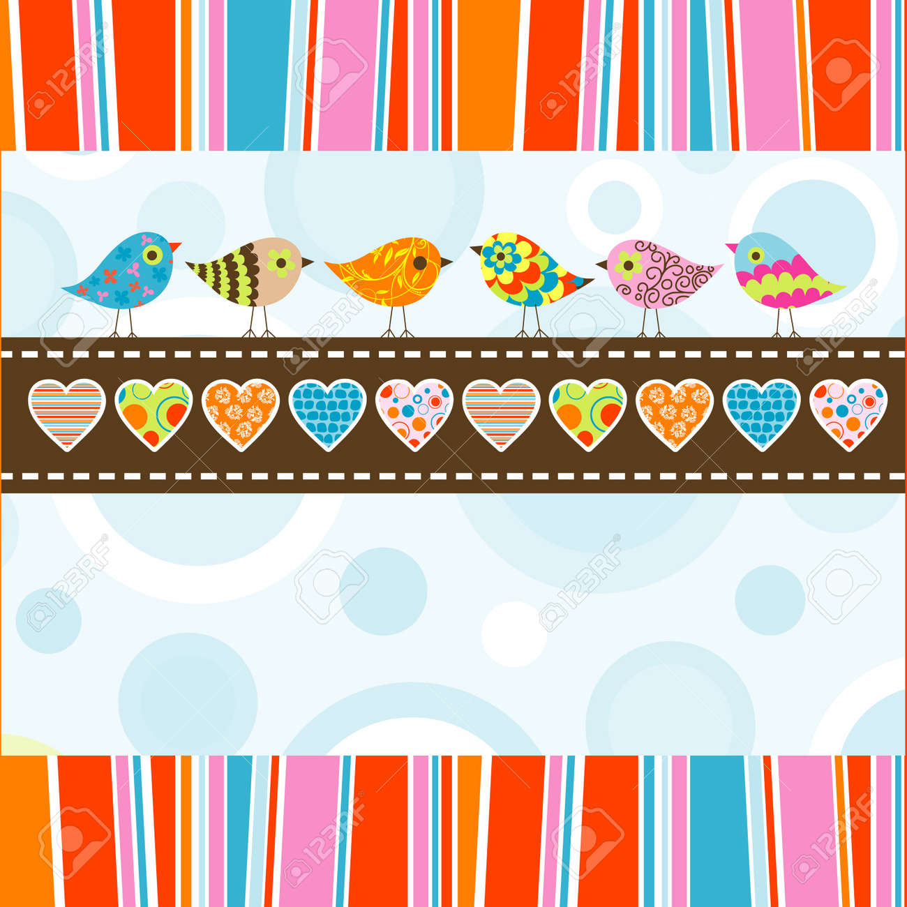 Template greeting card, illustration Stock Vector - 12137977