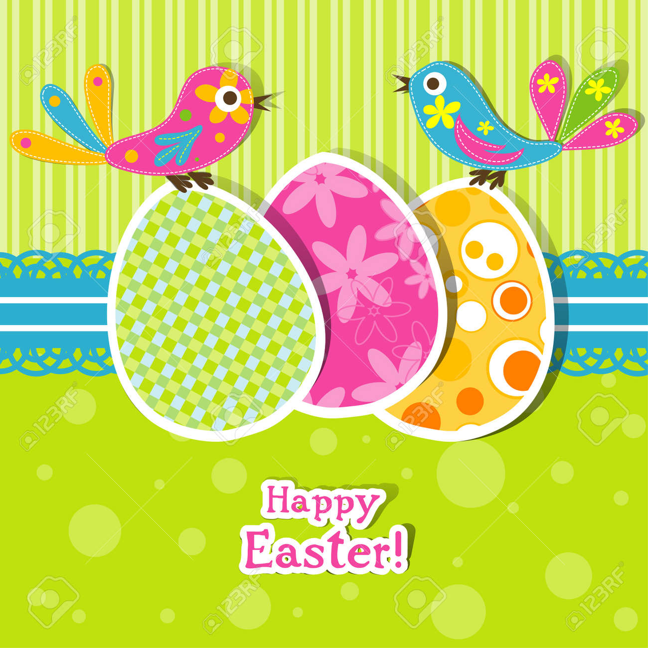 Template Easter Greeting Card Vector Illustration Royalty Free – Easter Greeting Card Template
