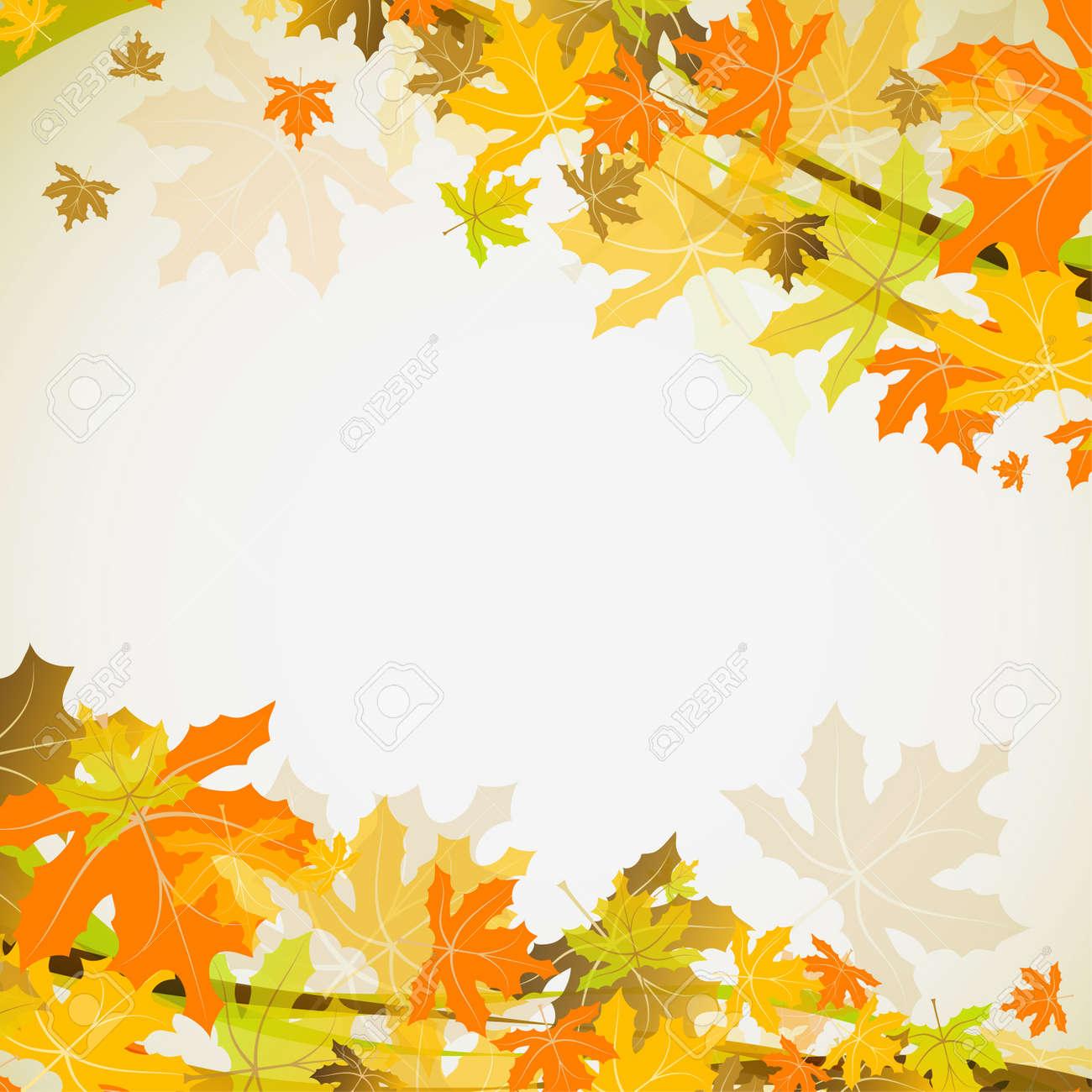 もみじ秋の背景イラストのイラスト素材ベクタ Image 15537882