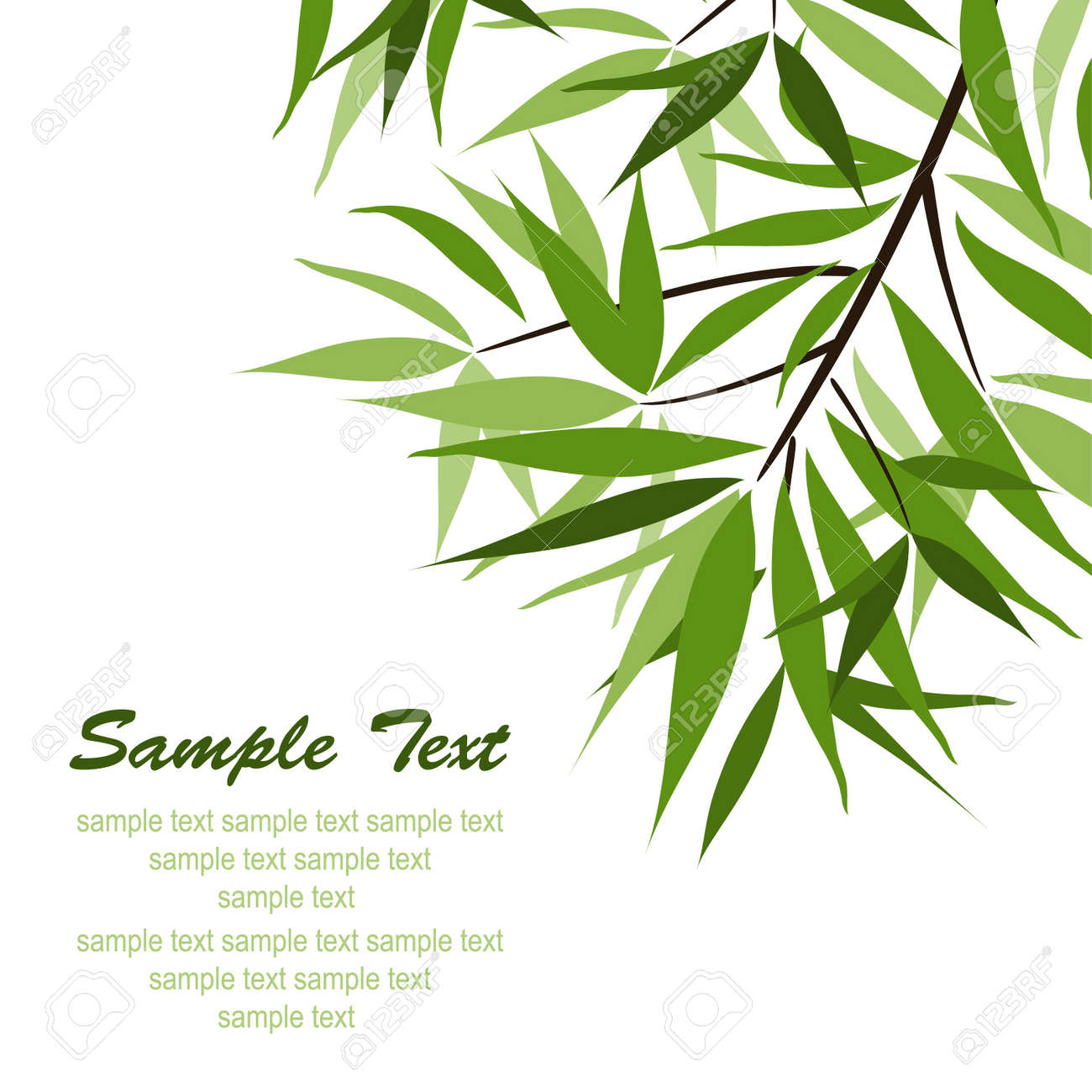 Bamboo background and sun, vector illustration Stock Vector - 16683788